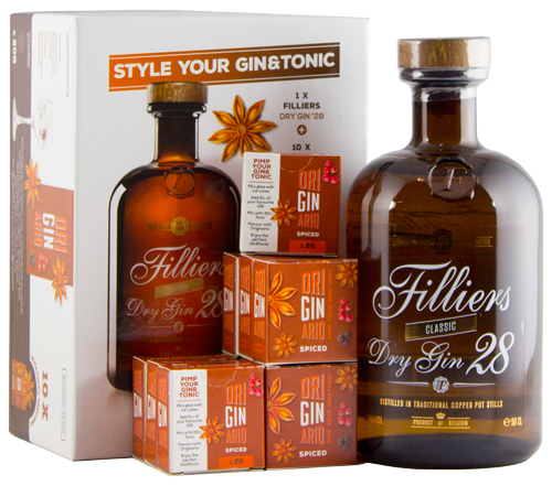 Filliers Dry Gin 28 Originario Botanical Pack 50cl